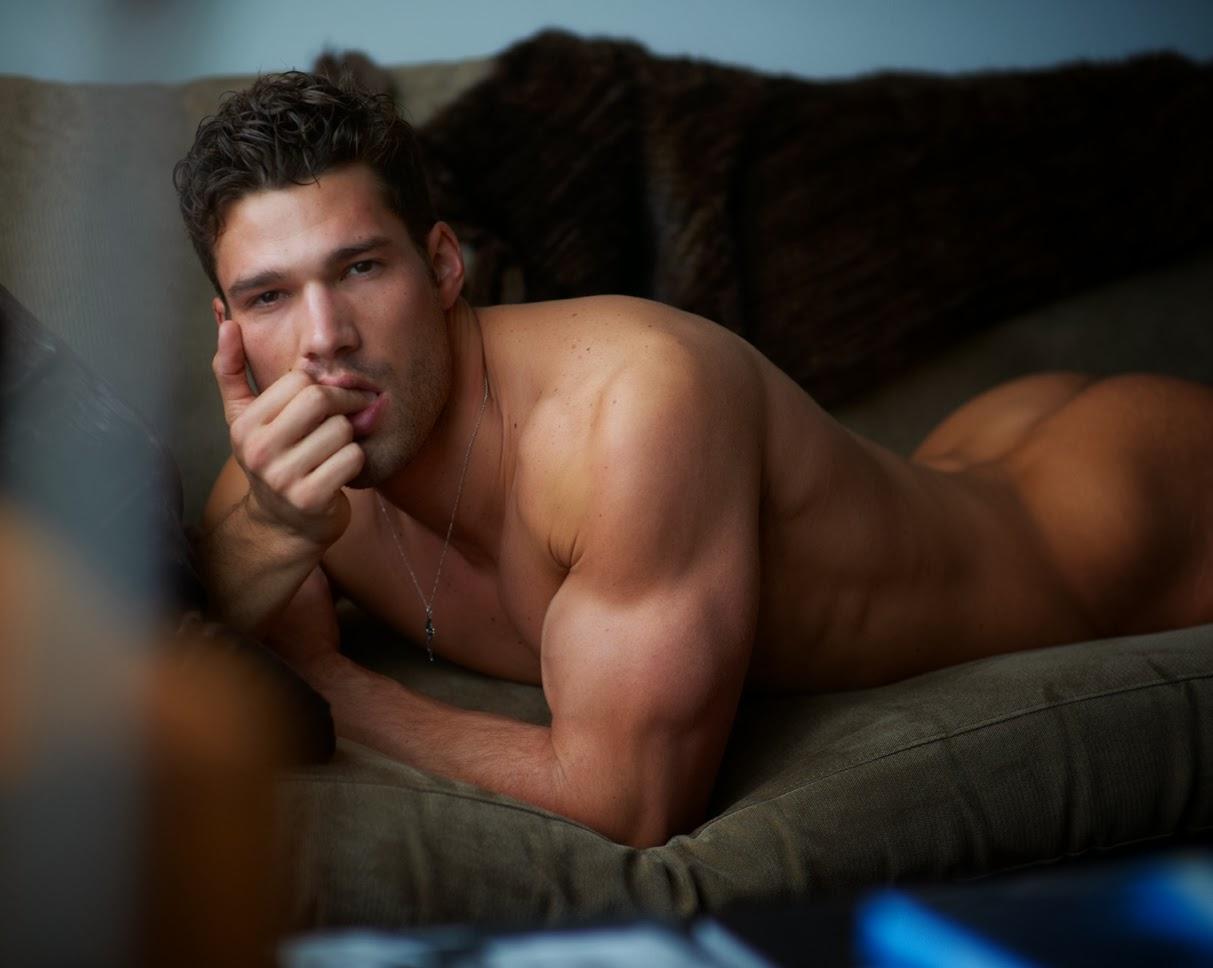 Male model backstage naked