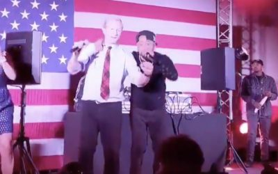 Juvenile Performs 'Back That Azz Up' with Tom Steyer Dancing On Stage During Campaign Rally